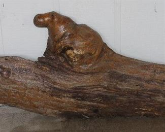 "Driftwood Refinished With ""Hippo"" Knot (59""W x 23""H)"