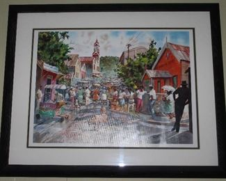 """St. Ann's Bay"" by Herbie Rose Framed and Matted Print (25 1/4"" x 18)."