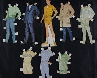 "Vintage 1960' s Paper Dolls Made in USA with Clothes:  ""Ted"""