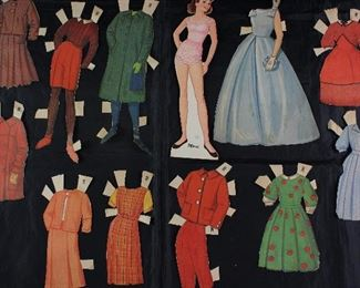 "Vintage Paper Dolls Made in USA with Clothes:  ""Merri"""