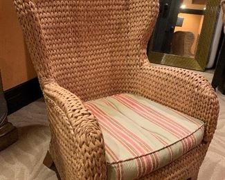 Pottery Barn Rattan Wing Chair  $250.00 each  we have a pair