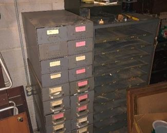 #28 Metal Filing Cabinets -   Left - $85 ~ Right $75