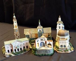 6Piece Resin Portmeirion Village