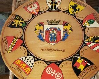 Germany Wooden Shield  Plate
