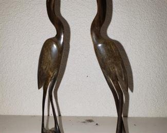Carved Herons