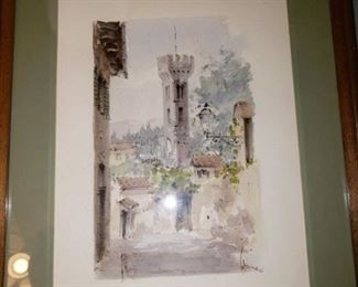 Signed and Litho Watercolor