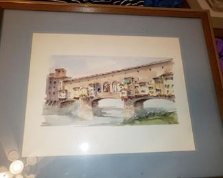 Signed Litho Watercolor