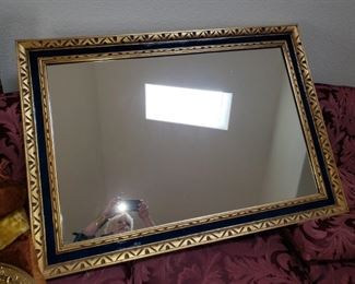 Large Black and Gold Framed Mirror