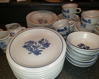 Pfaltzgraff 'Yorktown' Ironstone Dishes in Excellent Condition. -  Entire Set - $220