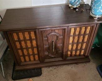 60's - 70's Vintage Turntable Cabinet - $125