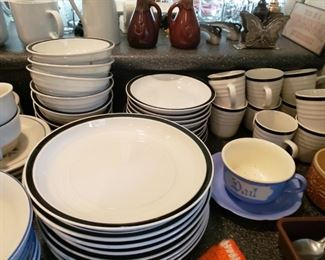 A large amount of Gibson Dishes - Plates, Mugs, Soup Bowls, Salad Bowls.  Some are still in the boxes. All $70.