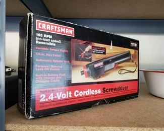 Craftsman Cordless Screwdriver