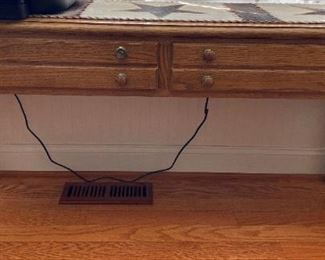 Oak Sofa Table w/2 Drawers,