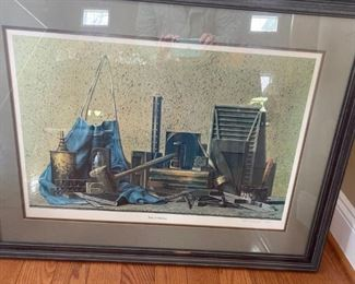 "Ward H. Nichols ""Tools of Freedom"" Framed & Matted Print,"