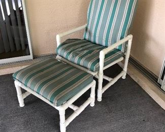 #2 CHAIR AND OTTOMAN $40