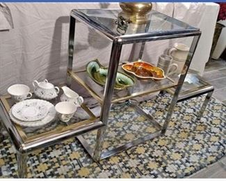 #6  Chrome 3 level Etagere  $100.00