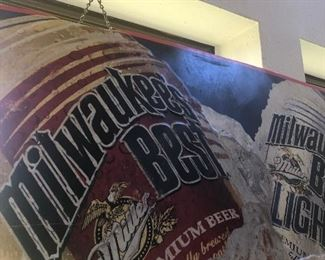 #17 Metal Milwaukee Beer Sign  $40.00