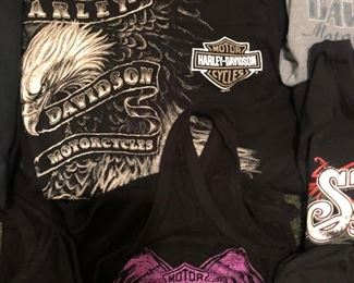 #37 Women's Harley Davidson shirts  $15 each