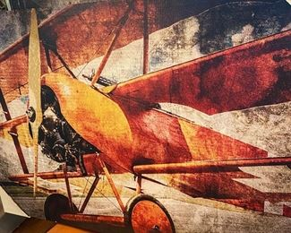 54 Airplane decor on canvas new  35.00