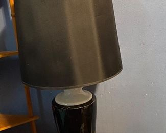 Large black and white lamp  25.00