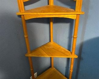 Wood corner shelf stand  About 4ft  25.00