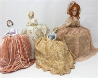 4 Victorian Lady Pincushion Dolls https://ctbids.com/#!/description/share/370726