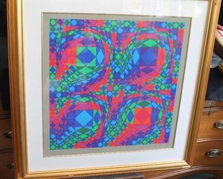 "Vasarely  ""Quadrature C"" $325"
