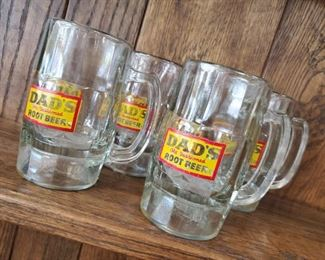 Set of 4 Vintage Dad's Old Fashioned Root Beer Glass Mugs - $40 ***Please note:  California sales tax will be charged on all purchases unless you have a valid California resale certificate on file with us.***