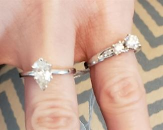 14k white gold diamond rings- the one on right has SOLD