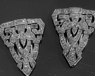 10.5 grams 14Kgold diamonds fur clips