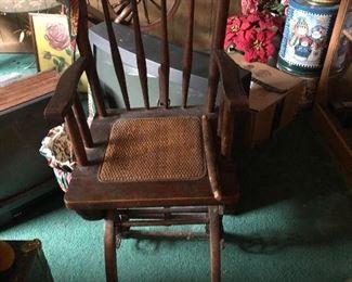 Early 1900  high chair 95.00