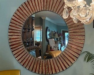"Lot1:  4'8"" hanging mirror beveled glass $200 NOW $100"