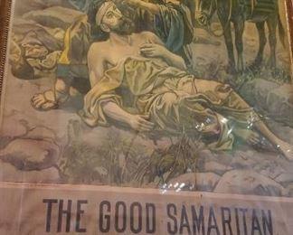 Rare Large GOOD SAMARITAN Poster $250