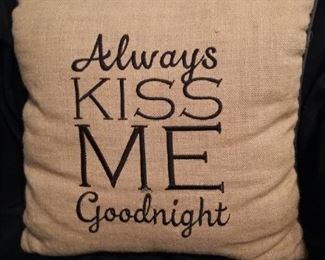 Always Kiss Me Good Night Pillow