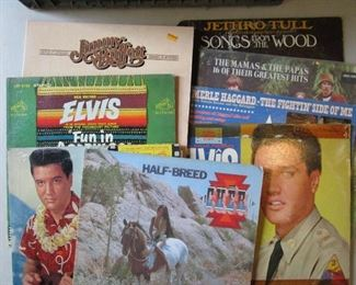 Elivs and Cher Vintage Vinyl
