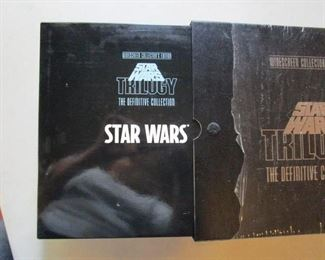 STAR WARS Trilogy Laser Disc Set - NEW.  Still in the shrink wrapping Includes the book and all items