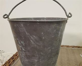 #72) Vintage Bucket. Approx. 9.5 T $10