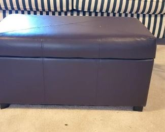 Leather-Look Storage Ottoman in Great Condition