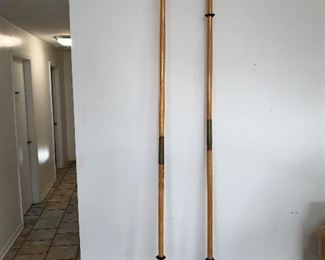 9' tall  1960's Folbot wooden Oars Buy it Now $80.00 each Call or text 630-903-9747 to purchase