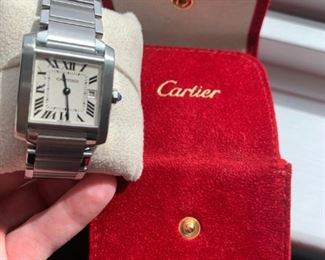 $1850 Cartier Women's Tank Francaise S.S. Watch w/date
