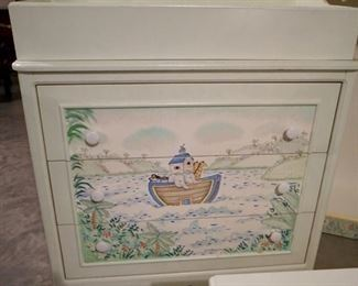 $125  Noah's Ark Baby Changing  Table
