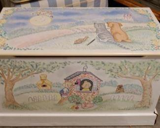 $35 Noah's Ark Toy Box( has some damage bottom right)