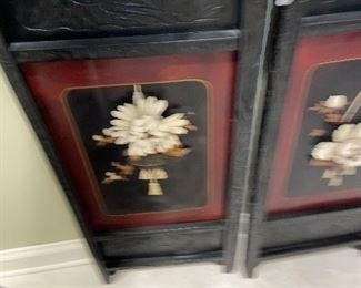 """Large Asian Panels 45"""" tall 18"""" wide $250 pr"""