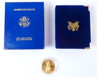 American Eagle 1 oz. proof gold bullion coin