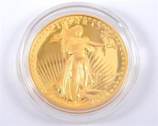 Gold American Eagle 1 oz. proof gold bullion coin