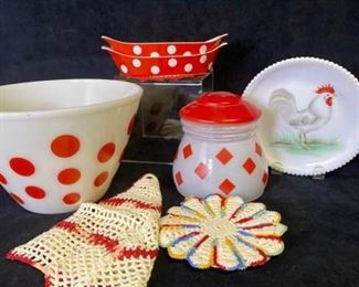 019m Fireking  Other Red Polka Dot Items