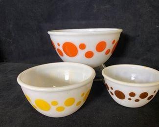 002m Federal Glass DOT Mixing Bowl Set