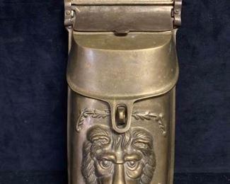 025 Vintage Lion Head Wall Mount Letter Box