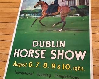 1963 Dublin Horse Show poster. Printed in Ireland. Bell's Bridge Dublin.Alex. Thom & Co Ltd. Royal Dublin Society.      ALL ITEMS FROM THIS SALE WILL BE MAILED AS CHEAPLY AS POSSIBLE          $200