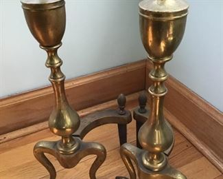 Pair of heavy antique andirons $50.  Shipping based on buyers location